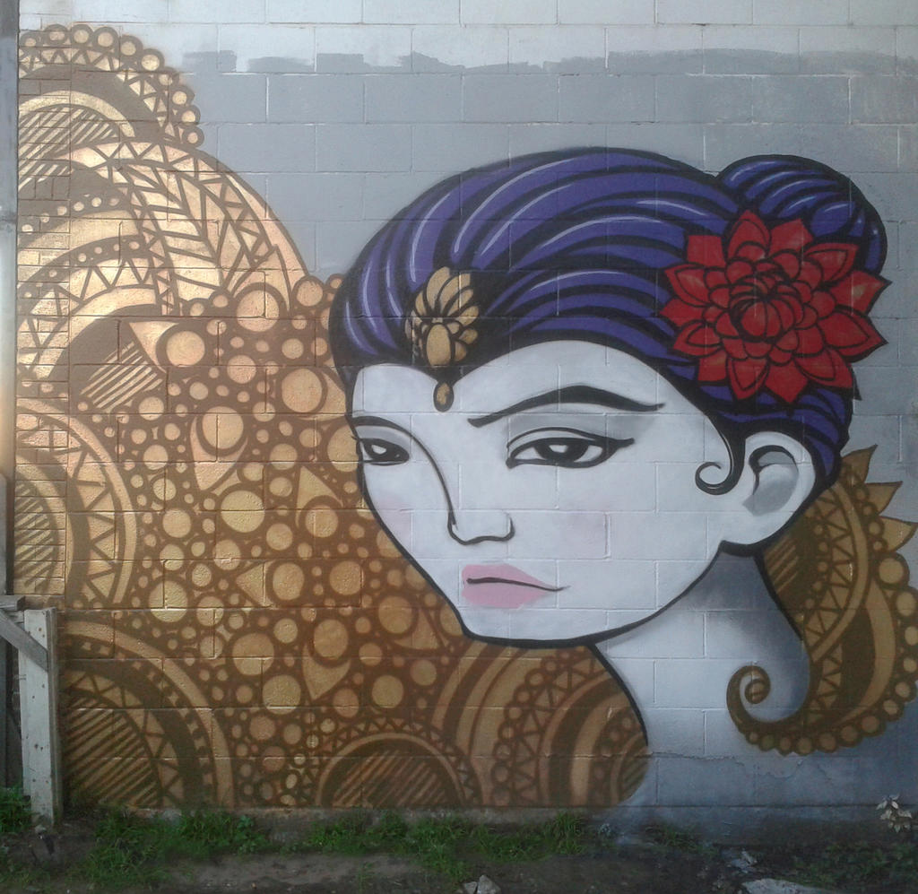 Goddess Mural by e47art
