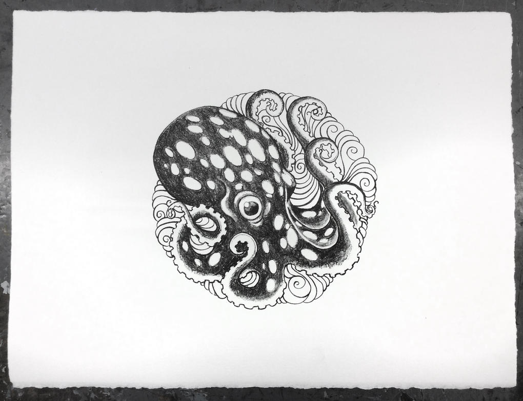 Ocotopus Litho 0413 by e47art