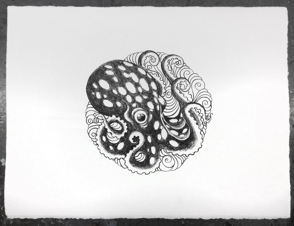 Ocotopus Litho 0413 by e47art