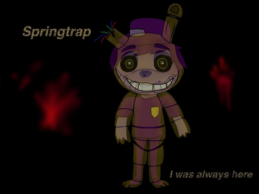 Chibi springtrap fanart by dianadragonmaster on deviantart