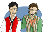 Enjolras is not amused, Grantaire.