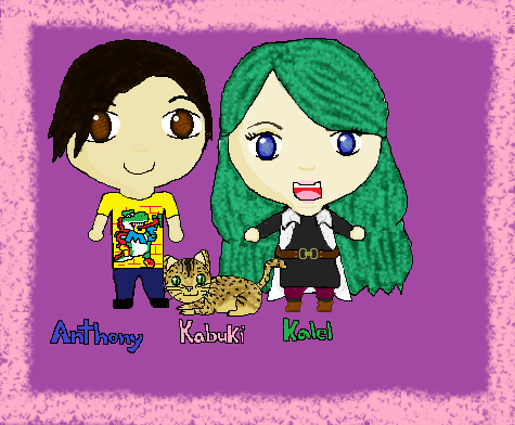 Anthony And Kalel And Buki Drawing