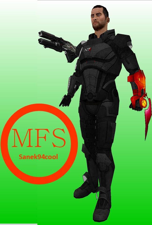 Male Commander Shepard Papercraft (Mass Effect 3) by Sanek94ccol