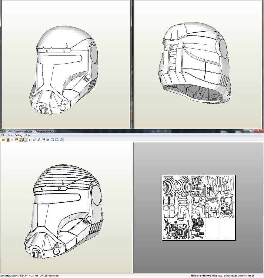 Republic Commando Helmet - Pepakura File by Sanek94ccol