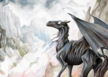 Thestral by EchoGreens