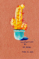 Cactuses by oil pastel