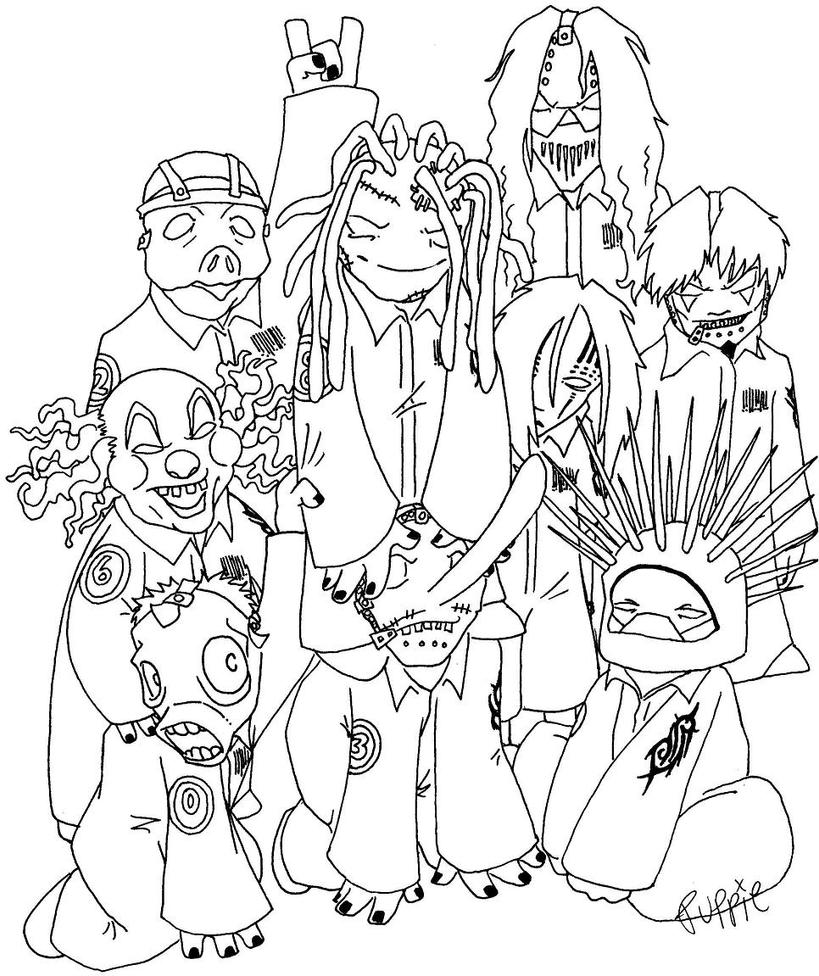 Slipknot Coloring Pages Coloring Pages Slipknot Coloring Pages
