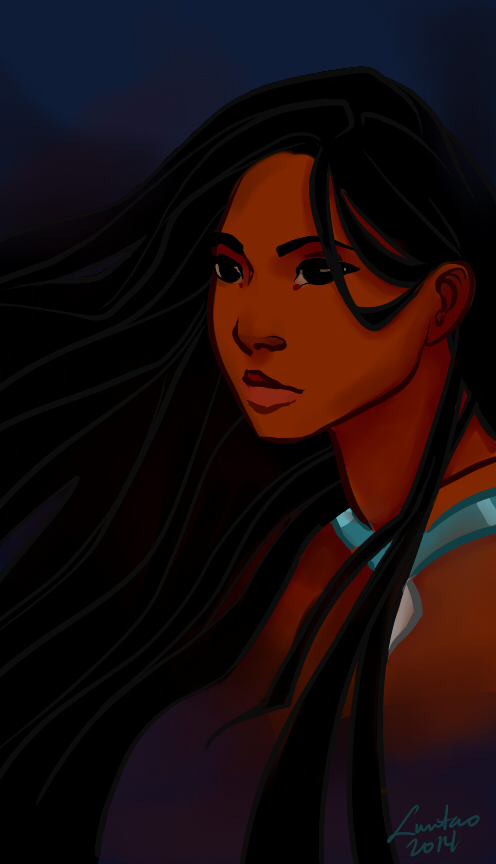 Pocahontas Pretty Hair by betsyillustration