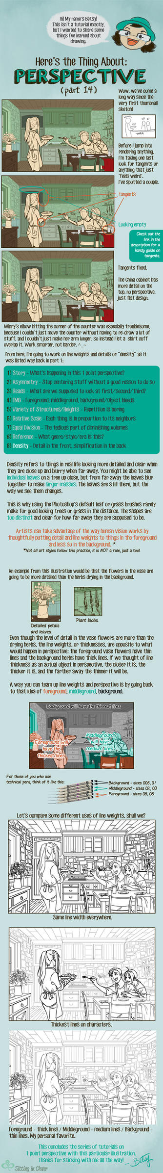 14 Here's the Thing About 1 Point Perspective by betsyillustration