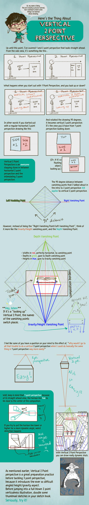 2 Point Vertical Perspective Intro by betsyillustration