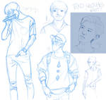 EXO sketches by betsyillustration