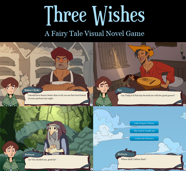 Three Wishes Visual Novel by betsyillustration
