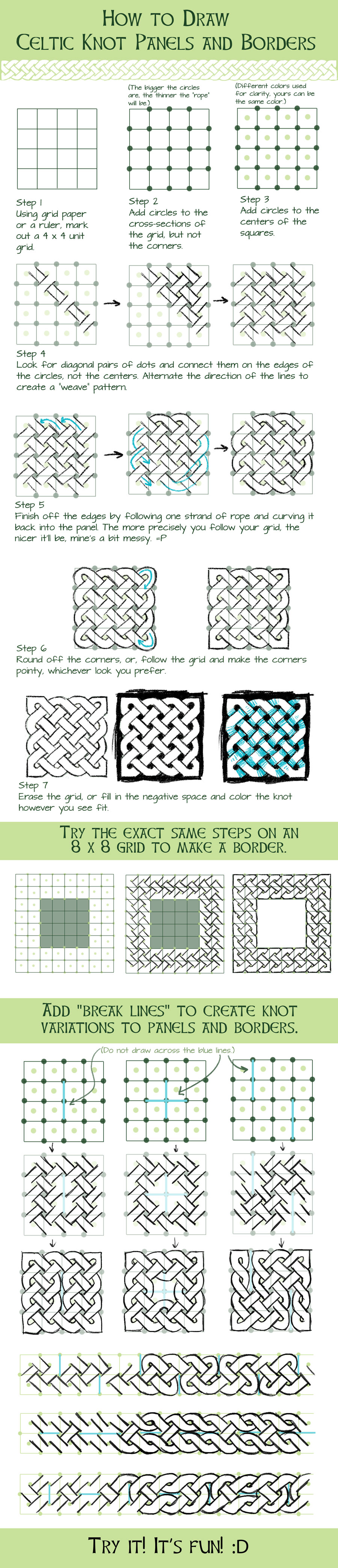 Betsyillustration How To Draw Basic Celtic Knots By Betsyillustration