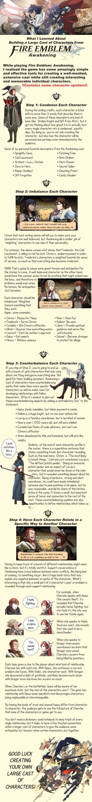 Tips for Large Cast of Characters by betsyillustration
