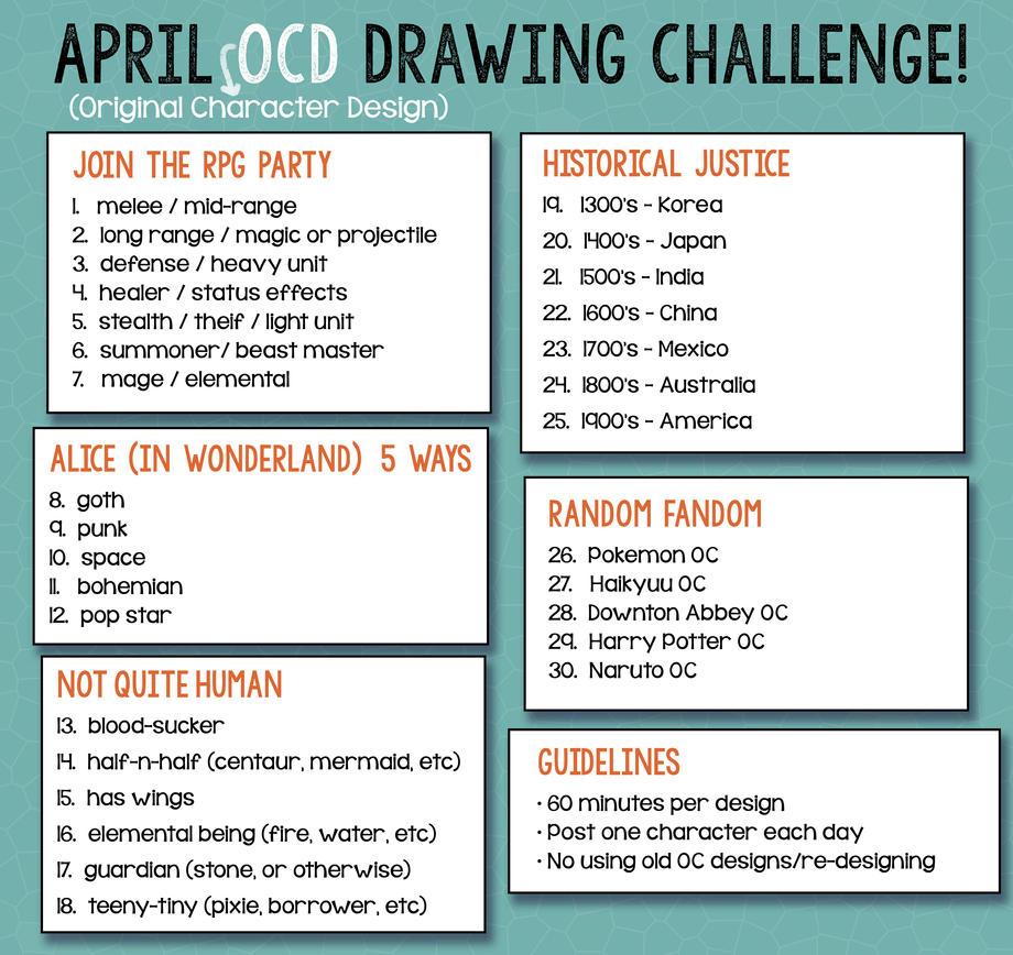 Character Design Art Prompt : April ocd challenge by betsyillustration on deviantart