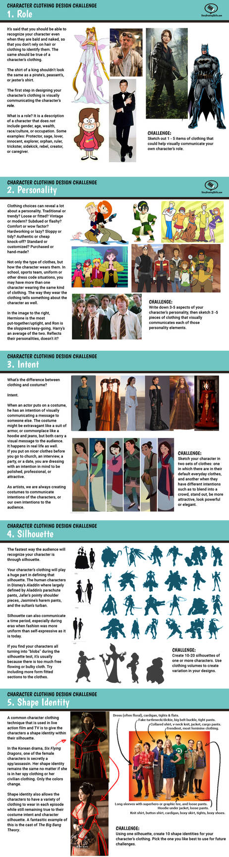 Character Clothing Challenge Prompts 1-5