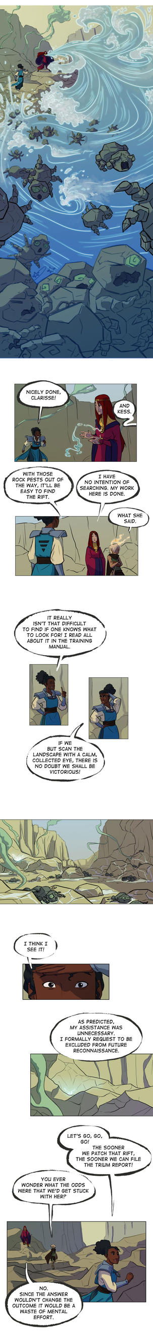 The Trium Report pg 2 by betsyillustration