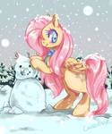 Winter Fluttershy by Churobu