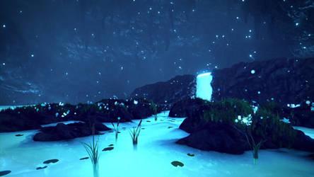 [Undertale] Waterfall by Latyprod