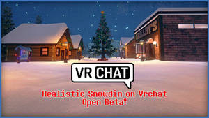 [UNDERTALE] Snowdin on Vrchat! (Link world)