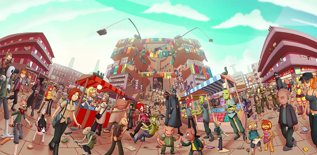 The Alien Market by Ragadabah