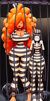 Sera Bellum and Co Behind Bars