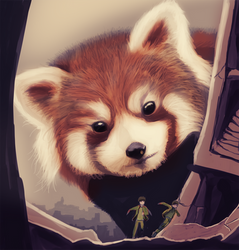 Red Pandamonium by Ragadabah