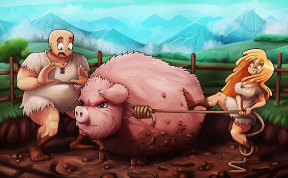 Viking Pig Wrangling