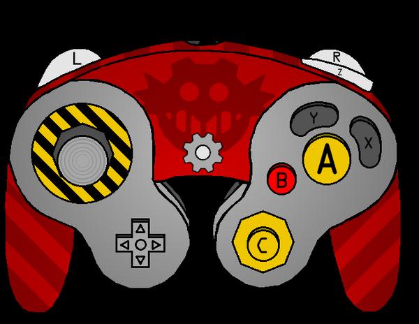 dr ivo robotnik gamecube controller by nintendotoy on deviantart
