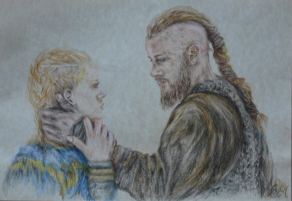 Ragnar and Lagertha by wntrb