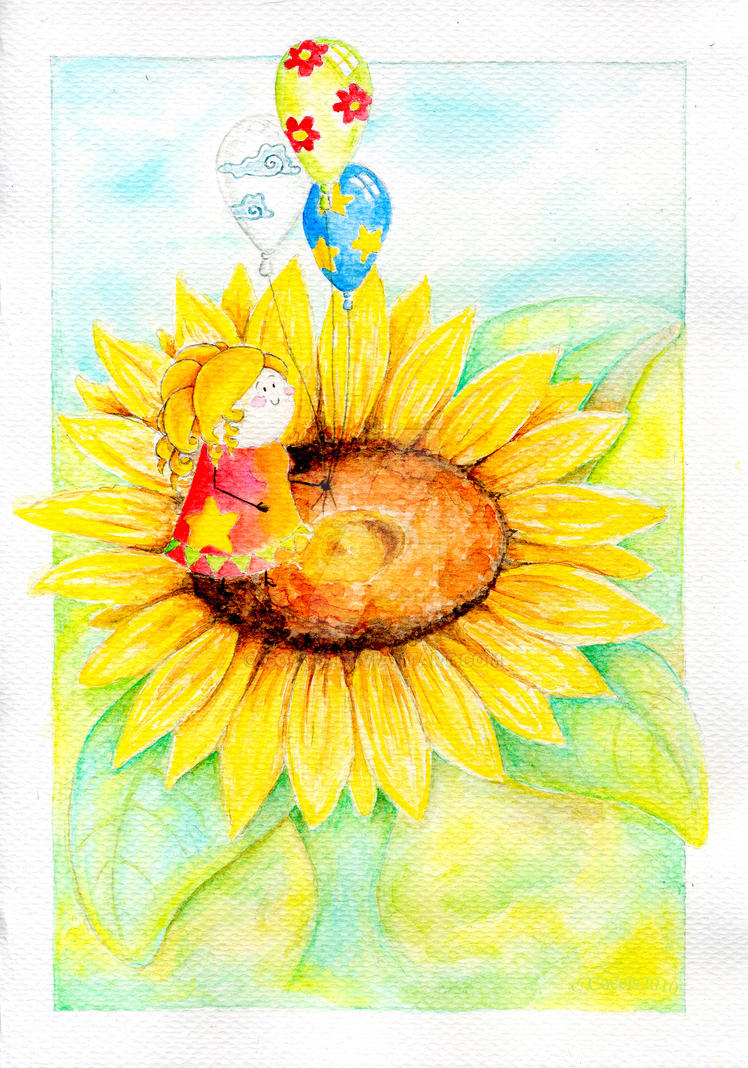sunflower girl by coccis on deviantart