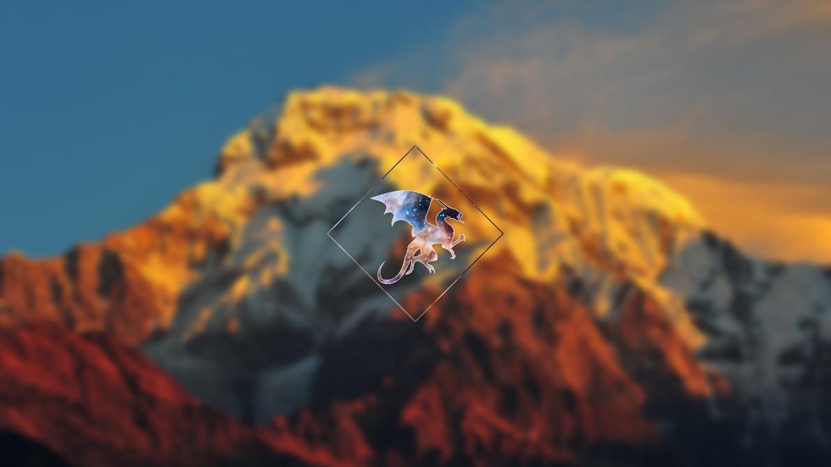 Dragon Polyscape Wallpaper by TechDragonSoft
