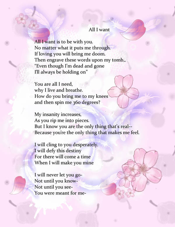 All I want Poem art by prettyism