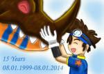 Digimon 15 years