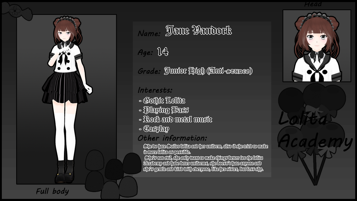 Lolita Accademy Application - Jane Vandork by ginconomp