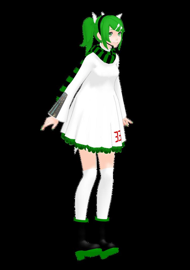 [MMD] Midori Hatsune ver.2 by ginconomp