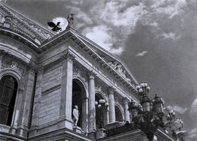 Pencil Drawing Alte oper Frankfurt by HirokazuTomimasu