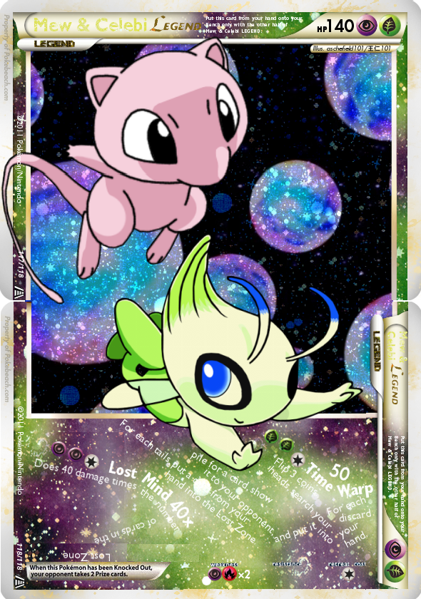 Dark Celebi Card Charganium's Fakes: It...