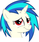 Vinyl Scratch - Proud moment (red eyes)