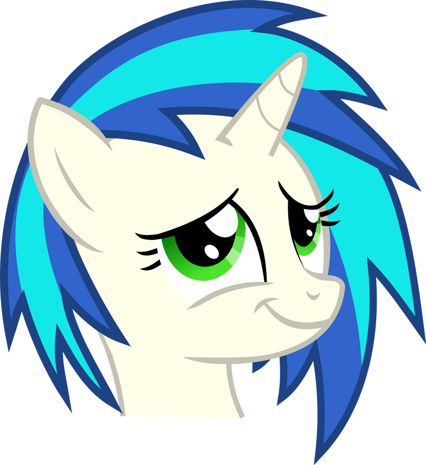Vinyl Scratch Proud Moment Green Eyes By