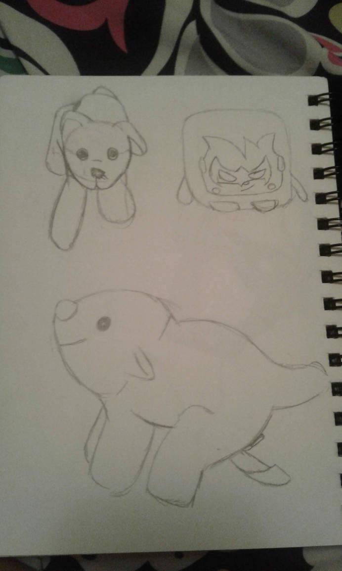 Sketchbook Doodle Page #3 (Sketchbook Pages #6) by Moonfirewolf1