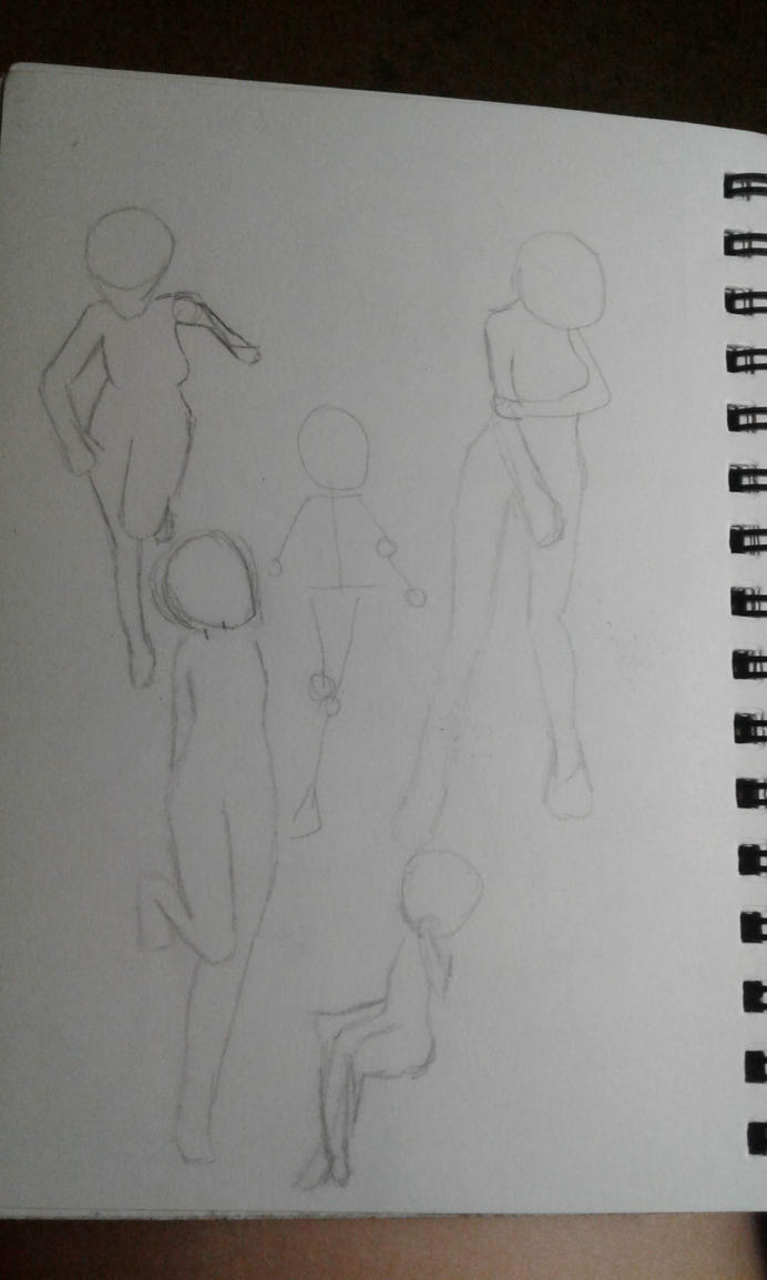 Sketchbook Doodle Page #4 (Sketchbook Pages #8) by Moonfirewolf1
