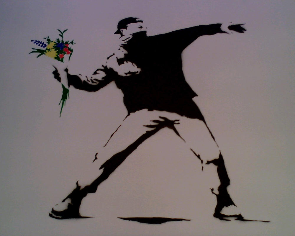 banksy love in the air by panjer