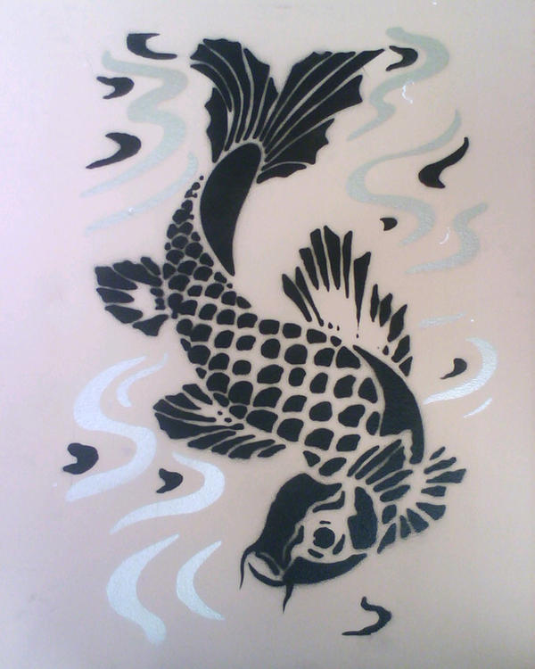 Koi fish by panjer on deviantart for Koi fish stencil