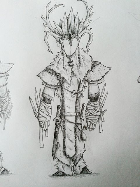 Winter elf armour concept by Asrath