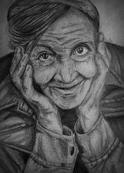 Old woman drawing by AstralDallarth