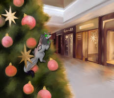 Holidays in the shopping mall!