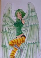 harpy Monet(colored) by Fluffy-foxlady