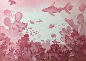 Pink deep sea