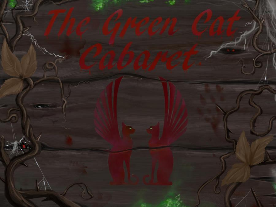 Green Cat Cabaret Tavern Sign - Halloween World by Ronron84
